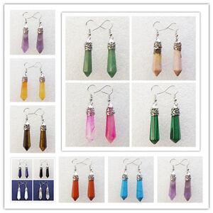 Pair-Of-Beautiful-Faceted-Mixed-Stone-Pendulum-Earrings-X123