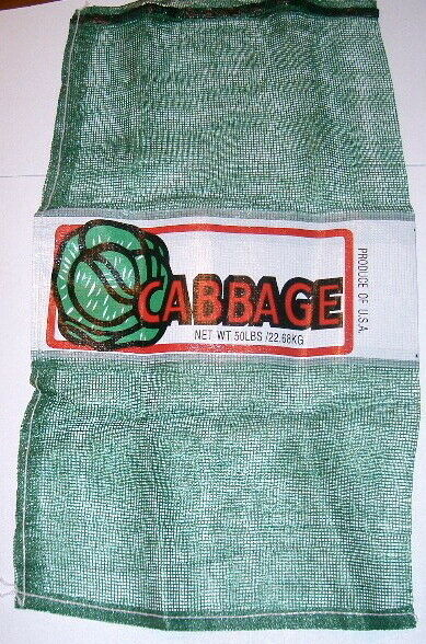 Mesh Printed Cabbage Bags pack 100 case
