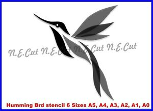 Humming-Bird-Reusable-Stencil-6-Sizes-350-micron-Mylar-not-thin-stuff-HBRD01