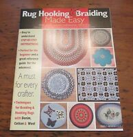 Rug Hooking & Braiding Verna Cox Sc Book Step-by-step