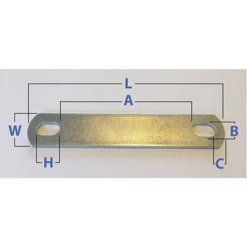 U-Bolt Plate,LCS,Zinc Plated,PK10 U17253.037.0087