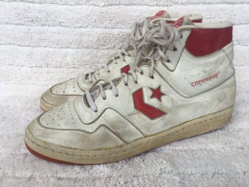 Vintage Converse Leather Hi Top Basketball Shoes S