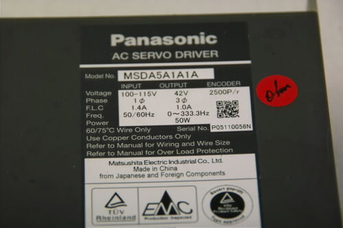 PANASONIC AC SERVO DRIVER MSDA5A1A1A TESTED WORKING FREE SHIP