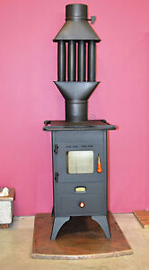 Wood Burning Stove Prity Mini 5 Kw With A Cast Iron Top