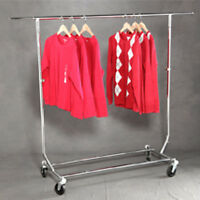 New Single Rail Commercial Folding Garment Rack Retailers Collapsible Display