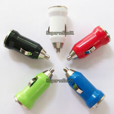 HOT Sale Mini Bullet Dual USB 2-Port Car Charger Adaptor for iPod iPhone 4 5 C S