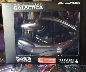"""Battlestar Galactica A Lootcrate Exclusive Cylon Raider 4.5"""" Scar Titan Figure Collectibles"""