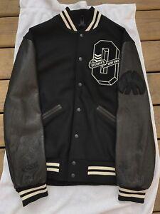 drake ovo x roots fall 2017 black cream leather varsity jacket