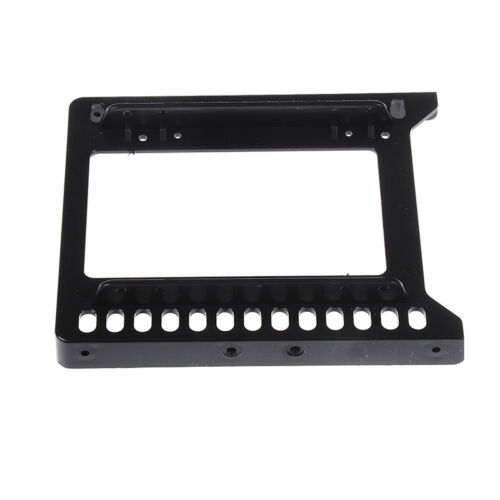 """Adapter 2.5/"""" to 3.5/"""" hard drive plastic bracket hdd holder mounting ssd black BH"""