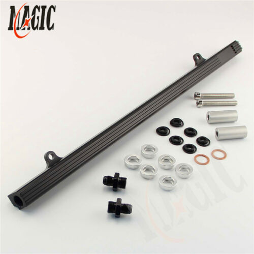 Upgrade Top Feed Fuel Injector Rail for NISSAN Skyline R32 R33 RB25DET GTS Black
