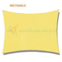 Sun Shade Sail Permeable Light Canary Yellow Outdoor Awning Uv Pool Patio Canopy