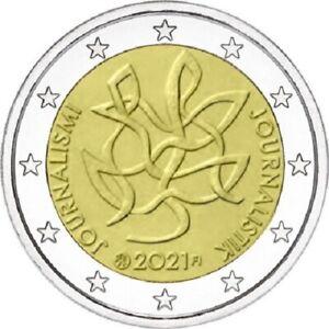 1x 2 euro commémorative Finlande 2021 - (Journalisme) (neuve)
