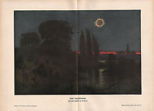 1903 ASTRONOMY GERMAN PRINT ~ TOTAL SUN ECLIPSE