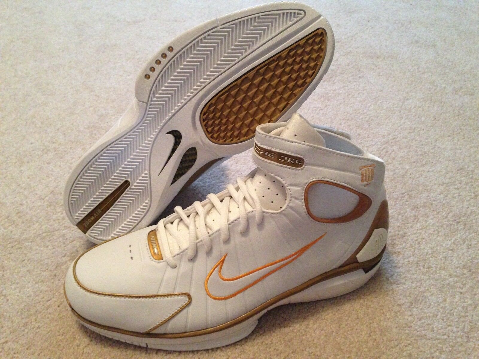 Nike Huarache 2K4 Kobe Bryant Olympic PE Sz 12 Rare Promo Sample Mamba Day Special limited time