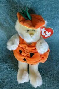 Ty Beanie Baby Attic Treasures Carver Pumpkin - TY Beanie Babies