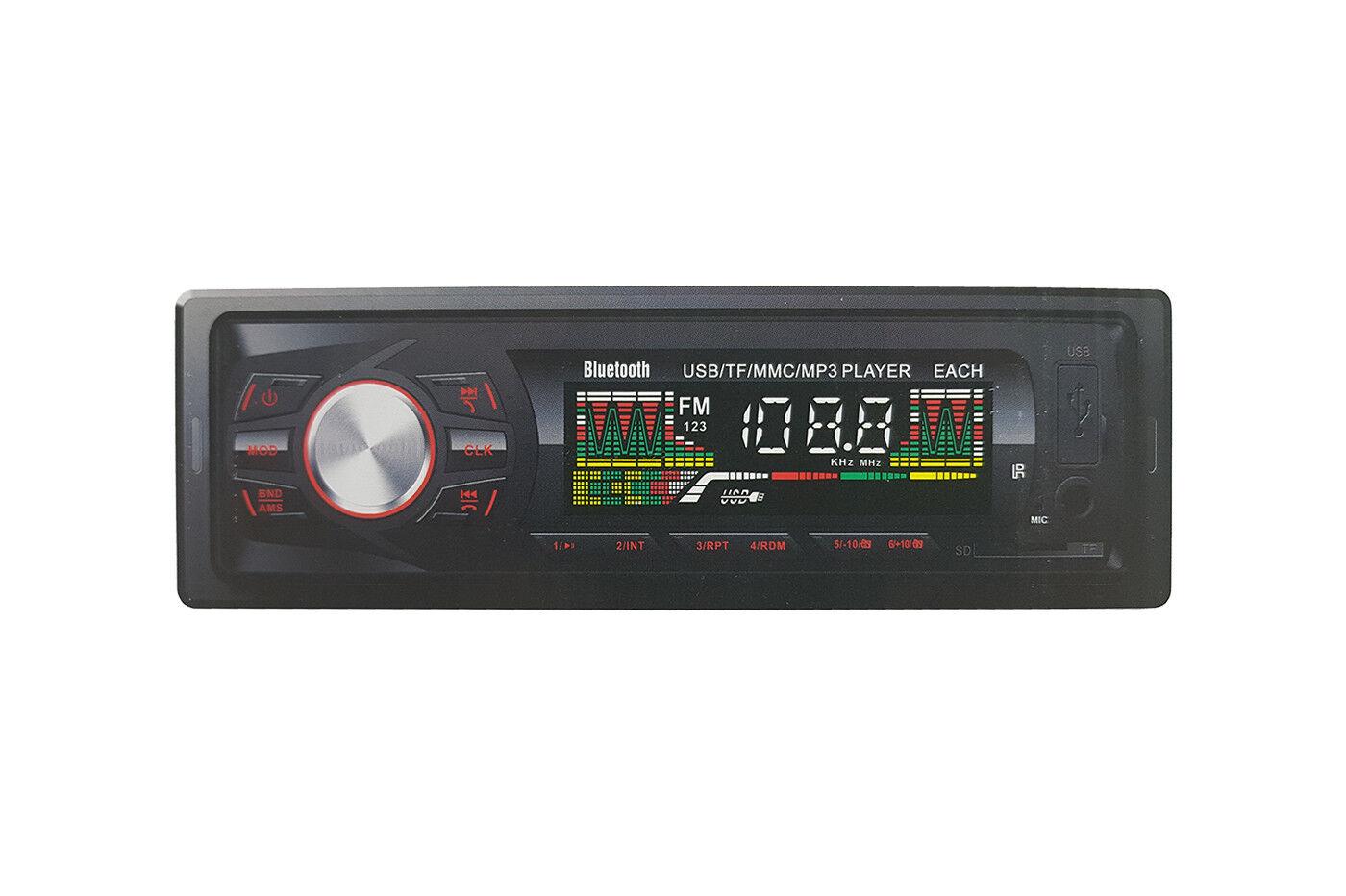 autoradio: Autoradio stereo radio fm bluetooth mp3 usb aux telecomando auto EACH-5008BT