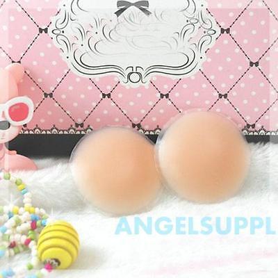 1 Pair Nipple Cover Breast Bra Pad Pasties Skin Adhesive Soft Silicone Reusable