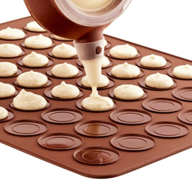30-cavity Silicone Pastry Cake Macaron Macaroon Oven Baking Mould Sheet Mat Tool