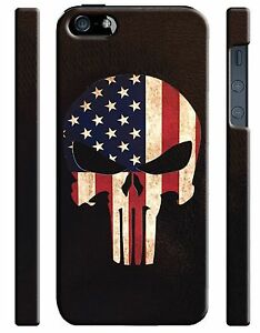 Iphone-4s-5-5s-5c-6-6S-7-8-X-XS-Max-XR-Plus-Hard-Cover-Case-The-Punisher-Logo