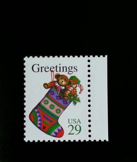 1994 29c Christmas Greetings, Stocking Scott 2872 Mint
