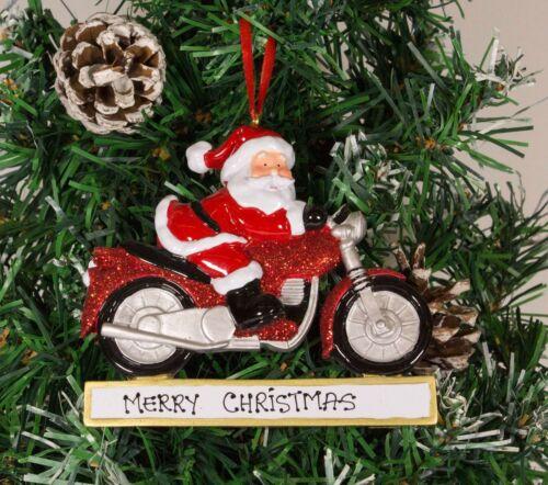 Personnalisé Noël Arbre Ornement Décoration-Santa moto