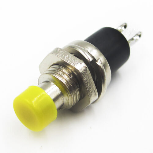 10PCS Yellow Lockless ON//OFF Push button Switch Press the reset switch PBS-110