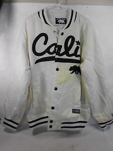 NEW-Gold-Mind-White-Bomber-Jacket-Size-2XL