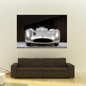 Poster of Mercedes W196 Streamliner Giant Huge 54x36 Inch Print 137x91 cm