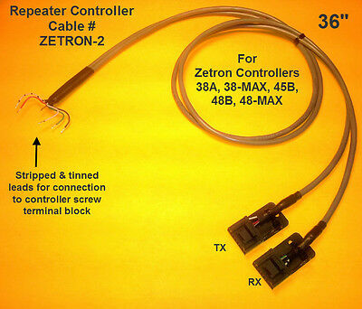 ZETRON 38A 45B Repeater Controller Cable Motorola CDM CDM1250 CM300 GM300 M1225