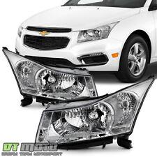 2011 2012 2013 2014 2015 Chevy Cruze Chrome Headlights Headlamps Leftright Pair Fits 2012 Chevrolet Cruze Lt