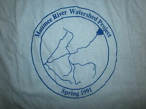 vtg-1991-MAUMEE-RIVER-WATERSHED-PROJECT-T-SHIRT-Ohio-90s-80s-Environment-Ecology