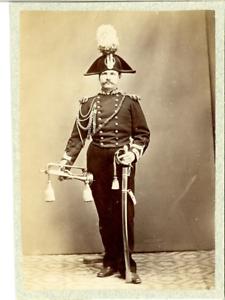 Italia-Esercito-italiano-Un-poliziotto-Vintage-albumen-print-Esercito-italian