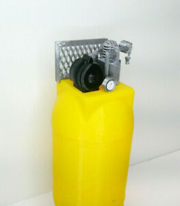 RC-1-10-Scale-Air-Compressor-YELLOW-Vertical-Shop-Garage-Crawler-Doll-Accessory