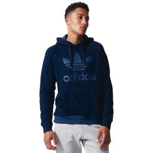 adidas Originals Trefoil Hoodies Mens Sweatshirt Hooded Jumper ... bd77aed9a584
