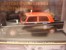 Voiture collection en Metal NOSTALGIE 1/43 PEUGEOT 404 Taxi G7 1962 neuf