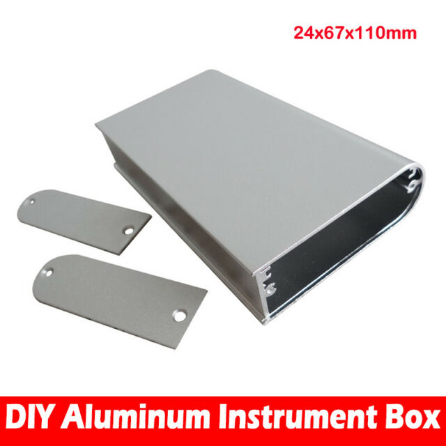 Aluminum Case DIY Electronic Project PCB Instrument Box 24x67x110mm