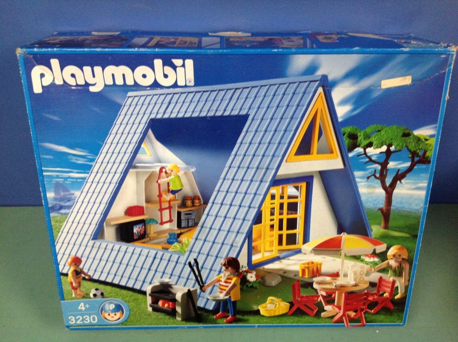 (P3230) Playmobil Haus Blau Ref. 3230 in Schachtel Komplett