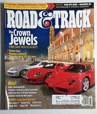 ROAD & TRACK CAR MAGAZINE 2004 JULY FERRARI ENZO PORSCHE CARRERA GT BENZ SLR