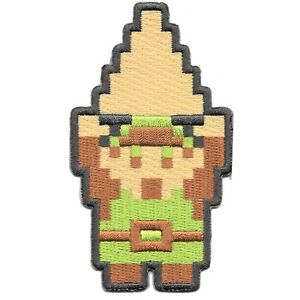 Nintendo-The-Legend-of-Zelda-Link-With-Triforce-8Bit-Embroidered-Iron-on-Patch