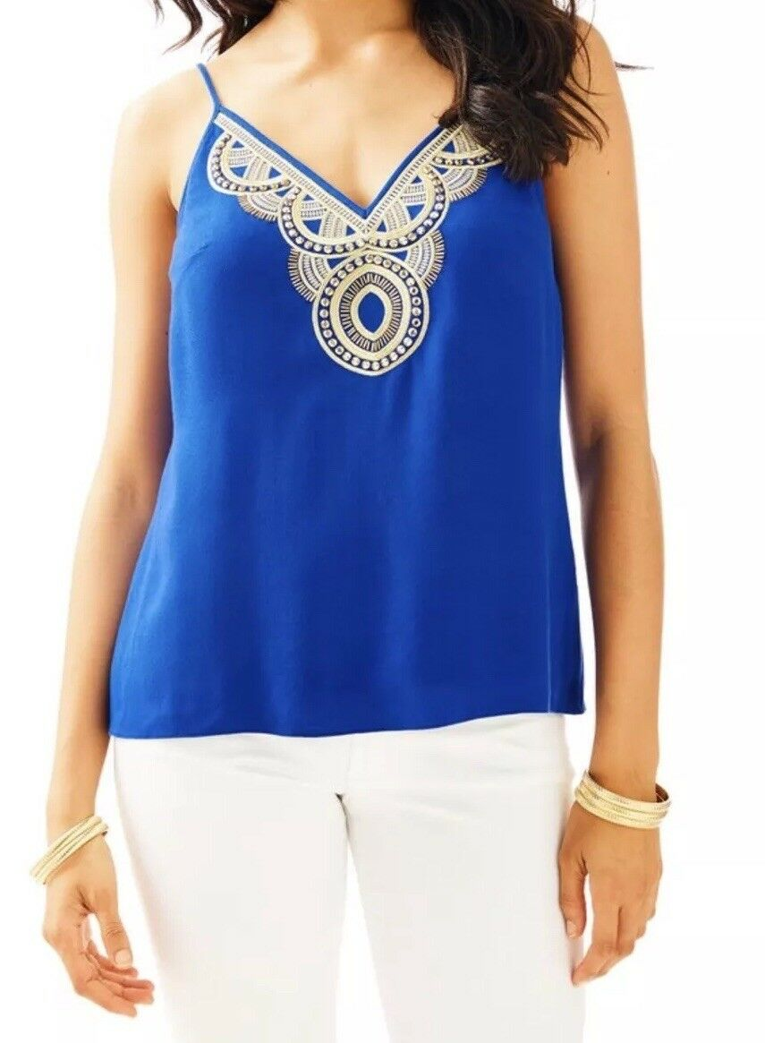 NWT Lilly Pulitzer Lela Top in  True Blau  Größe  M