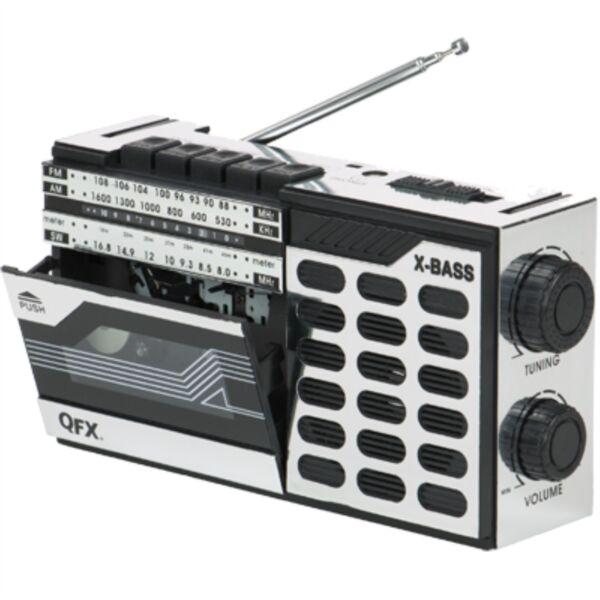 Radio Portable Cassette Player//Recorder QFX J-7 Retro AM//FM//SW shortwave