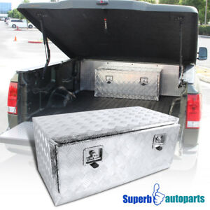 Under Bed Tool Box >> Details About 36 X18 X16 Truck Under Bed Tool Box Underbody Storage Trailer Pickup W Lock