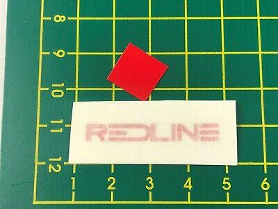 old school bmx decals stickers redline forklifter stem red clear