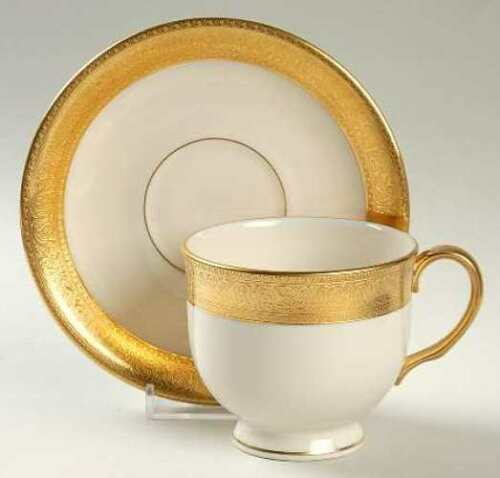 Lenox-China-Westchester-Cup-amp-Saucer-Set-of-4
