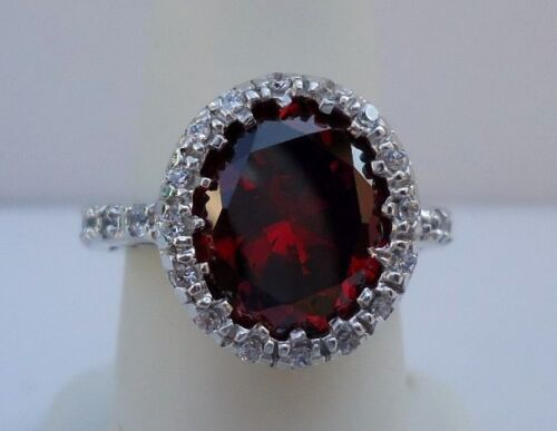 BSTR 00132// 925 STERLING SILVER DESIGNERS  RING //SZ 5-9 W//10 CTS RUBY//DIAMONDS