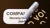 20000 Tamper Evident Security Labels Seals Stickers Silver Void 1 X .375 Cheap