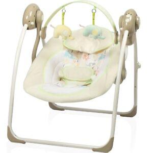 Babyschaukel-vollautomatisch-230V-Baby-Wippe-Schaukel-Wiege-Liege-Spielbogen