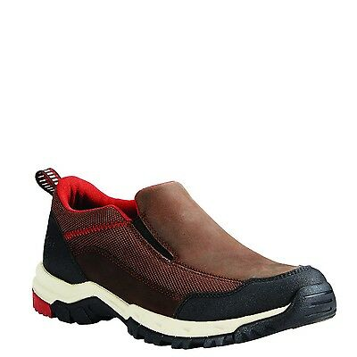 Ariat Men's Skyline Dark Chocolate & Red Suede Slip-On 10020057