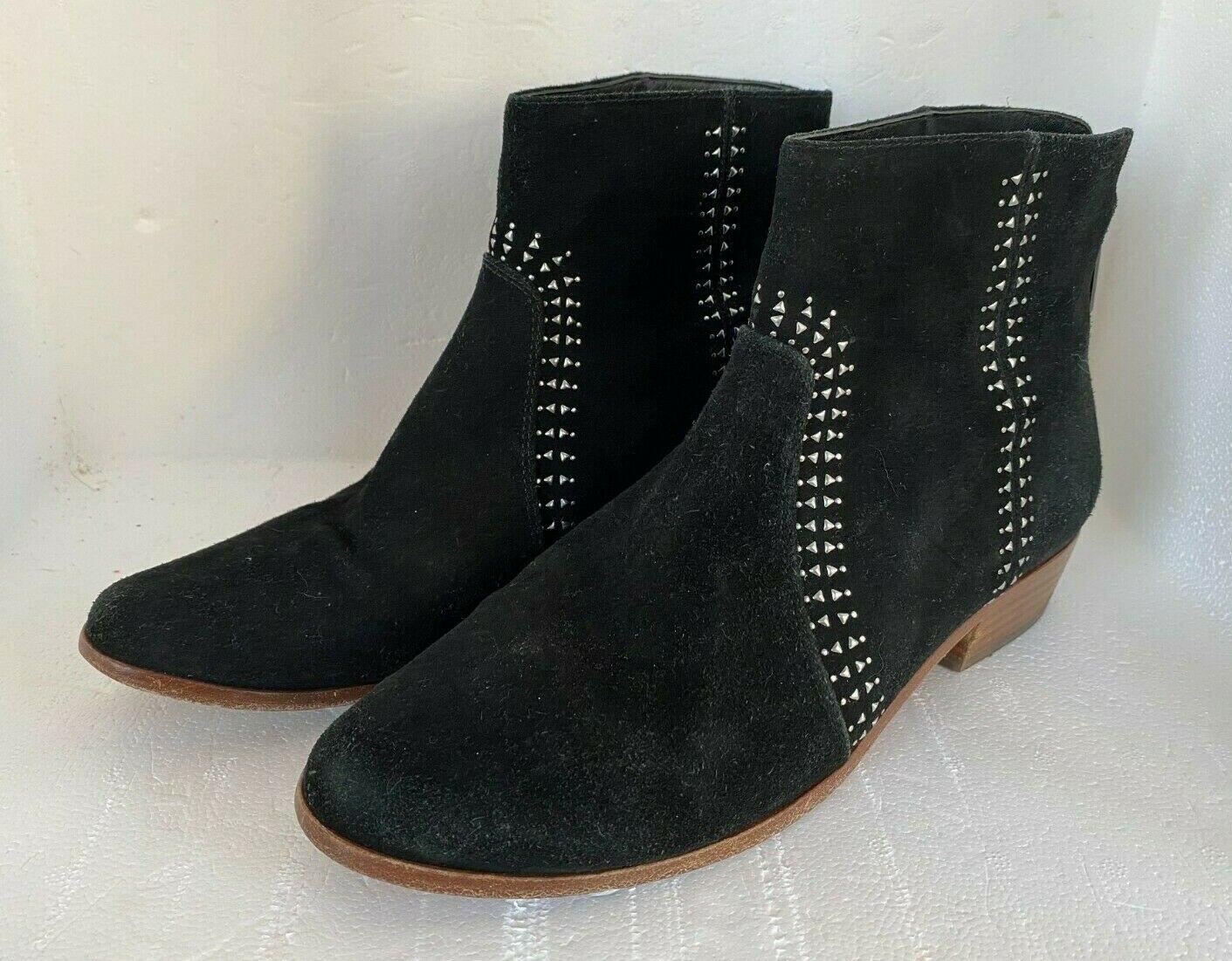 JOIE Lucy Women's Studded Black Suede Leather Ankle Boots Rocker Sz EU 39/US 8.5