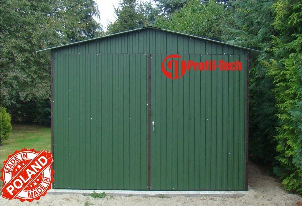 2,5x4,5 Blechgarage Fertiggarage Metallgarage LAGERRAUM GERÄTESCHUPPEN garage